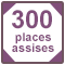 300 places assises